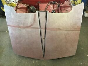 Bertone / Fiat X1/9 1977-89 • Front Hood / Bonnet & Prop. Later Style. Used.