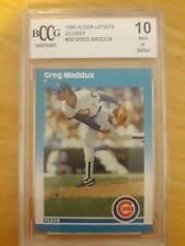 1987 Fleer Update Greg Maddux Chicago Cubs RC #68 Baseball Card 10 gem mint bccg