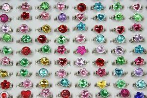 20 Mädchen Kinderringe verstellbar GLITZER Kindergeburtstag Ringe Kinderschmuck
