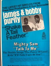 James And Bobby Purify 1967 Poster Advert Shake A Tail Feather bell records