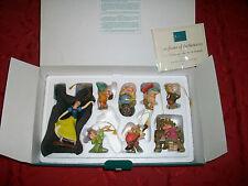 WDCC LE Snow White 7 Dwarfs Ornament Set