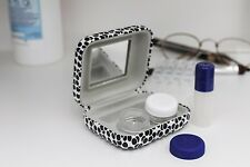 Kikkerland White & Black Dots Contact Lens Travel Kit Storage Hard Case Gift