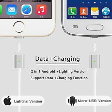 Android And Apple Models Magnetic 2 in 1 Lightning To Micro USB Cable Charger