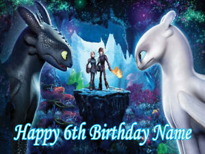 How to Train Your Dragon REAL EDIBLE ICING  CAKE TOPPER PARTY IMAGE FROSTING