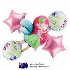 Happy Birthday Party Balloons Set Decoration Little Fairy 5pcs Girl Balloons Set