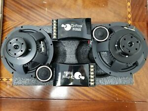 CRITICAL MASS 6.5'' COMPONENT 2-WAY component system with crossover & tweeters
