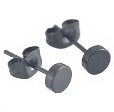 Titan Titanium Ohrstecker Ohrringe Ohrschmuck Herren rund schwarz black Paar III