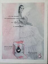 1951 Houbigant Chantilly perfume bottle woman lace folding fan dress ad