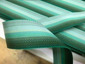 "Vintage Petersham Rayon Ribbon Reversible Striped 1.5"" Trim 1yd Made in USA"