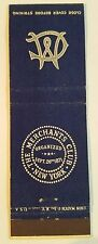 Rare Matchbook Cover - THE MERCHANTS CLUB - NEW YORK