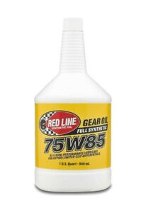 Red Line Fully Synthetic 75W85 GL-5 Gear Oil for Differentials 2 1-Quart Bottles
