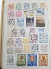 Modern unfranked New Estonian Stamps 3 pages Lenart Meri Olympics Estonian Krone