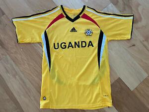 ADIDAS Climacool yellow UGANDA FUFU CRANES Soccer Jersey LARGE