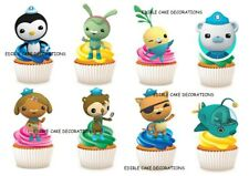 30 OCTONAUTS STAND UP Cupcake Cake Topper Edible Paper Decorations