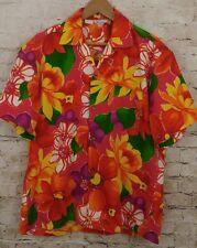 Vtg 60's HAWAIIAN TOGS Bright Floral ALOHA Shirt sz XL