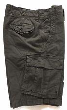 "American Eagle Mens Shorts Washed Black Cargo Walk Zip Combat Waist 29"" 30"""