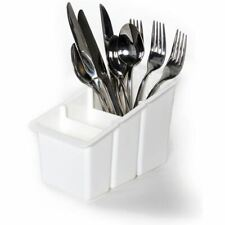 Delfinware Cutlery Draining Rack 2500 Utensil Storage Container White