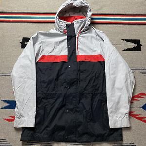 Vintage 90s Helly Hansen Tech Zip Up Rain Jacket Mens Size Large Black Red