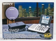 Sony ICF-SW07 Handheld Shortwave AM SSB Radio Receiver **COLLECTOR'S CONDITION*