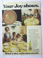 1979 Magazine Advertisement Page Joy Lemon Fresh Dish Detergent Soap Dishes Ad