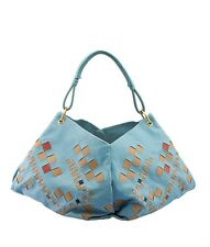 Bottega Veneta Blue Leather Hobo