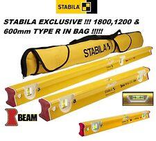 Stabila R-Type 3 Vial Spirit Level Set of 3 180cm 120cm & 60cm INC Bag WIGIG !!!