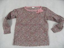 VERTBAUDET joli chemisiers Shirt Marron Clair Rose a Motif Taille 8 J Top kas718