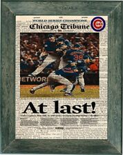 Chicago Cubs world series chicago tribube art print  on vintage dictionary page