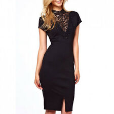 Women's Dress Black Minidress Suit Sheath Embroidery Party Elegant Ceremony