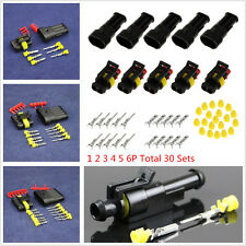 Universal Car 30 Set 1/2/3/4/5/6 Pins Way Sealed Electrical Wire Connector Plug