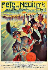 ART AD Fete De Neuilly 1912 Grande Boule Art Deco Poster Print