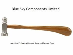 """Chasing Hammer 1"""" Repouse Ball Pein Jewellers Hammer German Style Superior"""