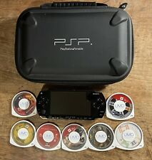Sony Playstation Portable (PSP-1001) Console Bundle TESTED Works With Case Games