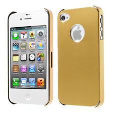 Apple iPhone 4 4G 4S Metall Case Schutz Hülle Cover Dünn Ultra-Thin Plating Gold