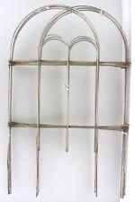 "VTG 7.5 Feet Length x 18"" Height White Wire Metal Garden Border Fencing"