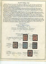 RUSSIA WRANGEL ISSUES COLLECTION ON MINKUS PAGES-1921-1928!