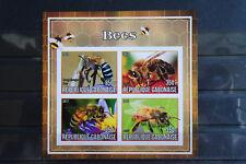 Insekten 12 insects Bienen bees Gabonaise Tiere animals Fauna geschnitten ** MNH
