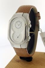 New Old Stock Philip Stein Signature Series Large  Dual Timezone Watch in Steel