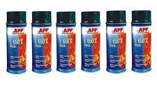 6 bombes de peinture haute température noir en aérosol 650° (PE05)