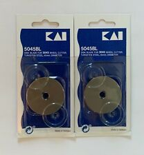 KAI 5045BL Rotary Cutter 45mm 2 Straight Blades in a Package with Free Shipping