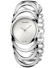 CALVIN KLEIN K4G23126 Body Silver Dial Bangle Ladies Watch