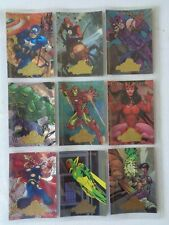 A  - Avengers Marvel Masterpieces      9  Card Chase Set   Trading Card