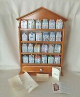 Lenox Spice Village 24 Porcelain Houses and Wood Rack Full Set with COA
