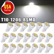 20X Car White T10 LED 8smd Side Wedge License Plate Light Bulb W5W 194 168 2825