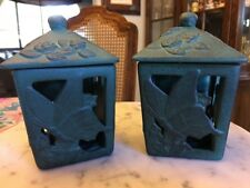 Outdoor Garden Patio Tea Light Holders Butterfly And Roses