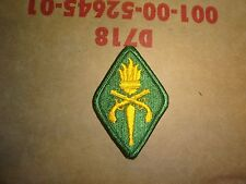 MILITARY PATCH COLORED SEW ON MP MILITARY POLICE TRAINING SCHOOL