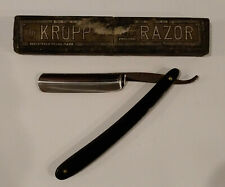 Antique KROPP Straight Razor & Box ~ Made and Ground in Sheffield, England   MG