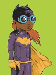 Hebru Brantley Batgirl (Green) 2018 signed AP  Complexcon Exclusive