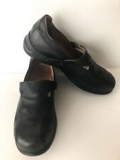 Aravon FAYE Slip-Ons Womens Size 8.5 Black Leather Loafers Flats New Balance