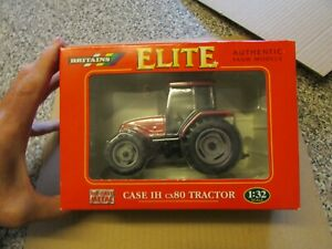 BRITAINS ELITE AUTHENTIC FARM MODELS = CASE IH cx80 TRACTOR - BOXED - NEVER OUT
